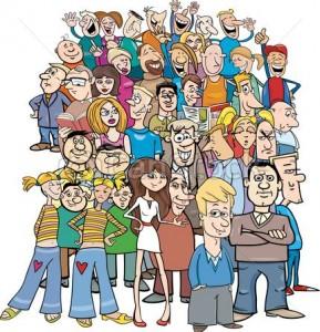 foule-dessin-animé-caractères-gens-cliparts-vectorisés_csp50597268